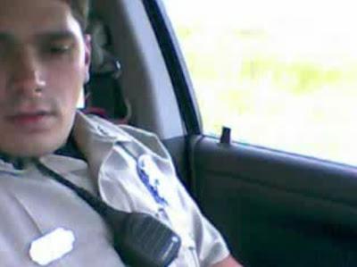 Cop jerking off