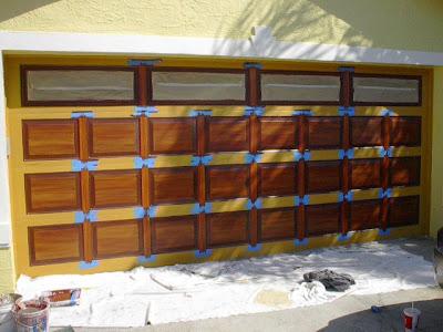 how to paint wood grain on your garage door dallas garage doors