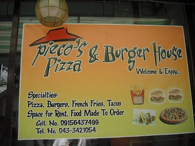 Pieco's Pizza and Burger House