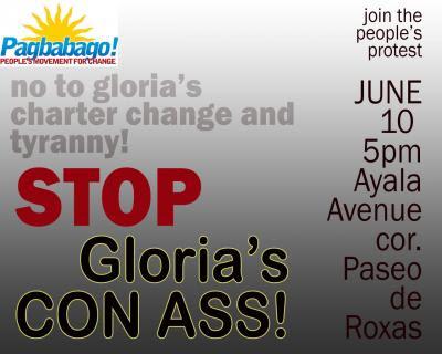 Stop Gloria's Con Ass!