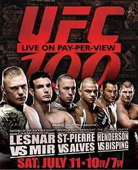 UFC 100 Free Live Stream, Fight Cards and Results