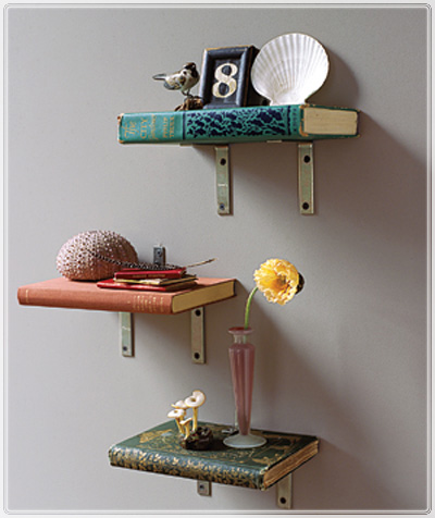 belle maison diy bookshelves made with books