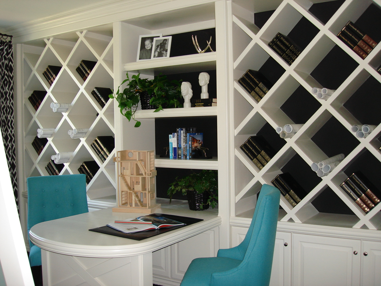 angled shelf plans
