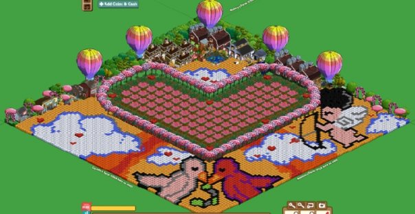 Master farmville excellent valentine themed farm for Farmville 2 decorations