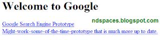 Сайт Гугл, главная страница из архива за 1998 год.