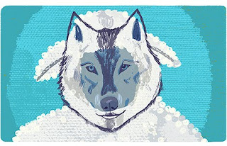 Steven Salerno, Magazine Illustration, Wolf in Sheep's Clothing