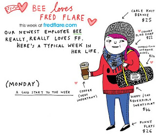 Gemma Correll, Fred Flare, Online Illustration