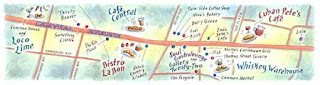 Jennifer Thermes, Magazine Illustration, Maps,