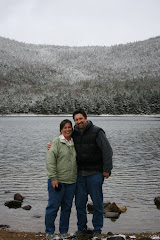It's snowing in the White Mountains