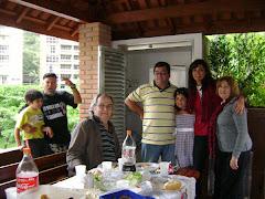 Professor Clívio e família