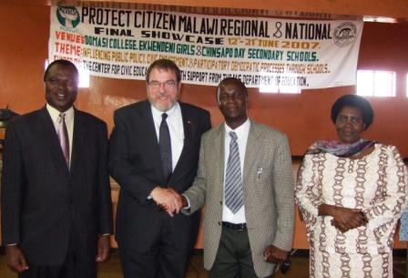 Dignitaries at Project Citizen Malawi Finals, June 21st