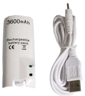 Wii Remote Controller Battery Pack 3600mAh