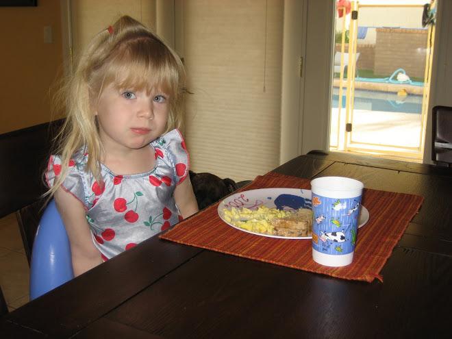 Delaney's preschool breakfast