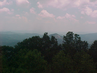 View from Looking Glass Rock Overlook