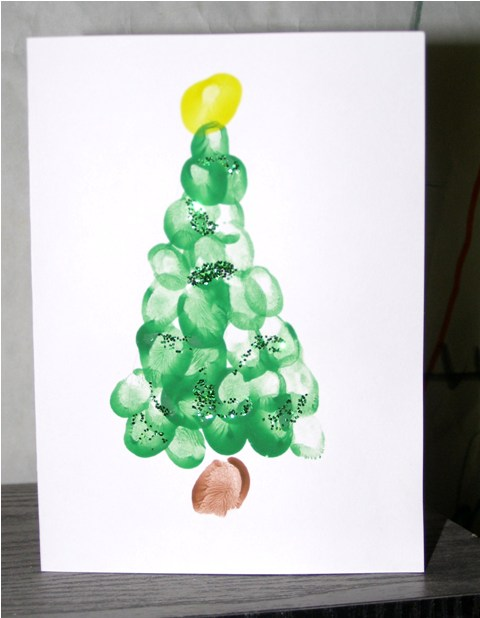 new finger painting ideas christmas