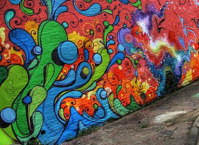 graffiti bubble,graffiti rainbow art