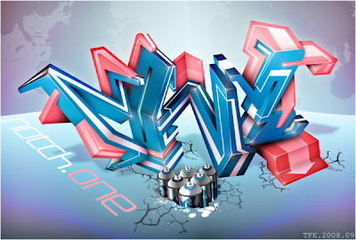 graffiti 3d, photoshop art