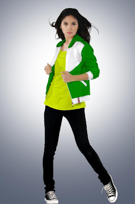 retro clothing,green jacket,yellow shirt
