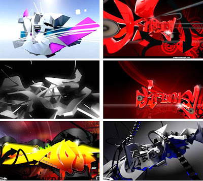 Graffiti 3d art alphabet