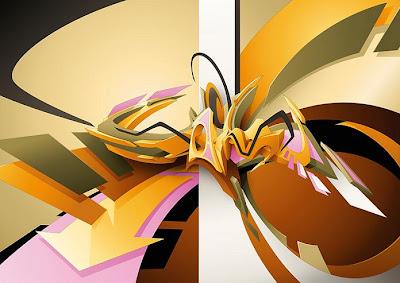 3D graffiti arrow image
