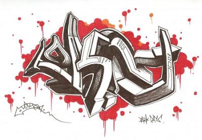 sketches 3d graffiti, graffiti 3d