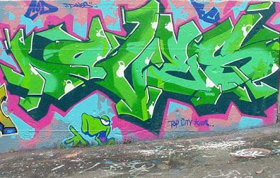 green graffiti , graffiti 3d