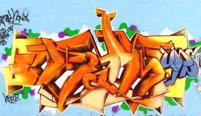 graffiti 3d , yellow graffiti