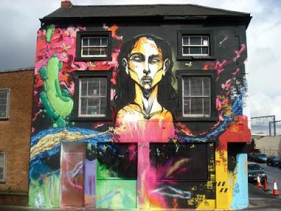 building graffiti mural, wall mural, vandalism graffiti