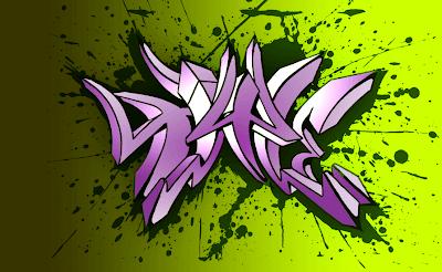 graffiti 3d, graffiti , purple graffiti