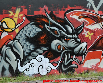 graffiti, dragon graffiti