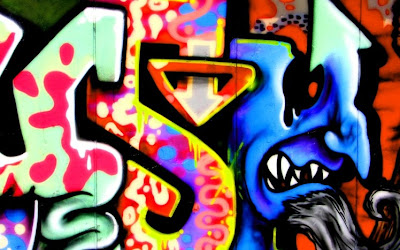 graffiti monster, arrow graffiti