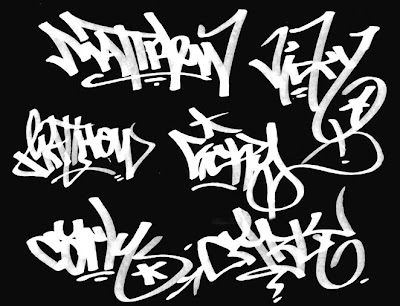 graffiti myname, graffiti font