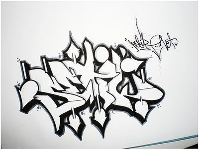 graffiti sketches, graffiti papper,arrow graffiti