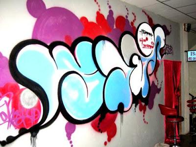 graffiti bubble, bubble 3d