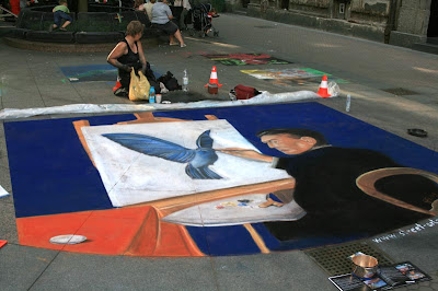 street painting, graffiti 3d