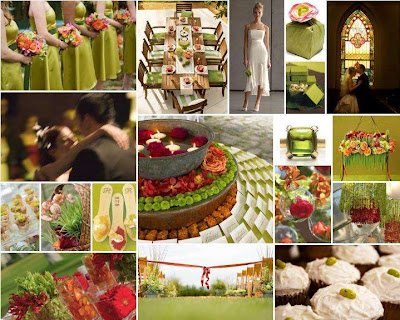Green Yellow Orange Wedding Ideas Post Pink Wedding Inspiration
