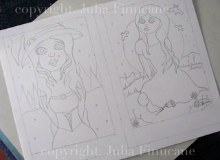 big eye forest witch and moon vampire works in progress image by julia finucane