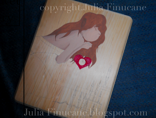 fairytale valentine work in progress image by artist julia finucane