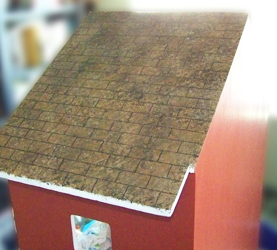 Faux Painted Dollhouse Shingles Five Dollar Dollhouse