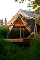 Colorado yurt company backyard bungalow cimarron for Tent platform plans