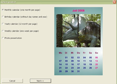 шаблон за месечен календар
