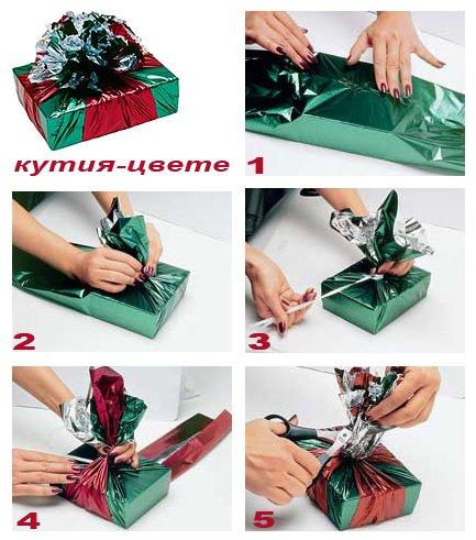 опаковка за подарък кутия с цвете
