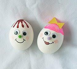 Яйца с личица за Великден