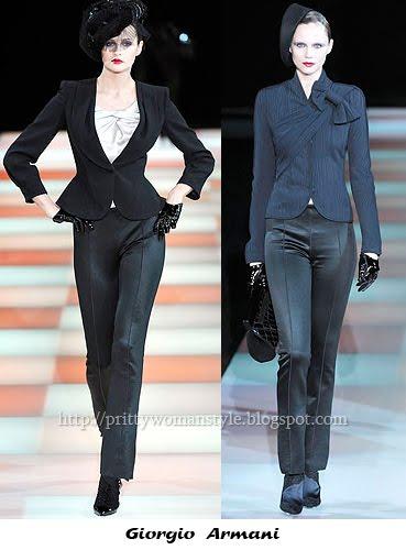 Дамски костюми в ретро стил 40-те Armani