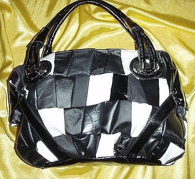 бяло и черно чанта пачуърк