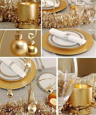 украса за маса в златно и сребърно