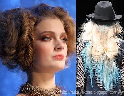 плитки и сплетени коси