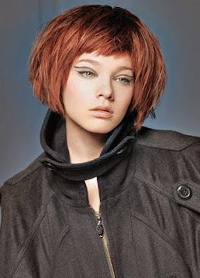 червена коса с кичури