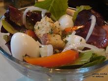Salade printanière aux oeufs de cailles