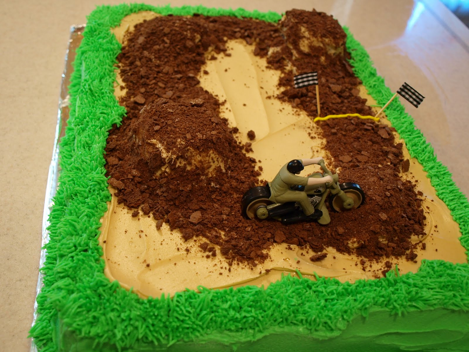 Buttercream Dirt Biking Birthday Cake